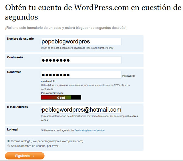 datos de usuario en wordpress
